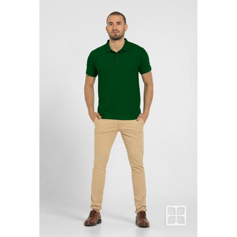 Playera-Tipo-Polo-de-Alta-Calidad-para-Hombre-Color-Verde-Bandera