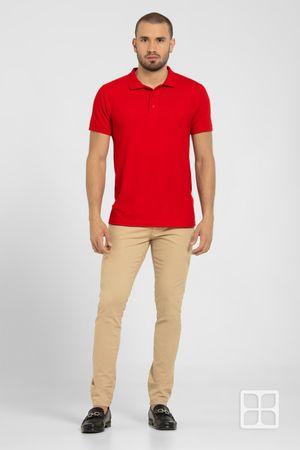 Playera Tipo Polo Premium para Hombre Color Rojo