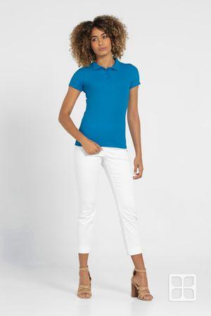 Playera Tipo Polo Premium para Mujer Color Turquesa