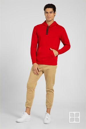 Sudadera Unisex con Capucha y Cangurera  Color Rojo