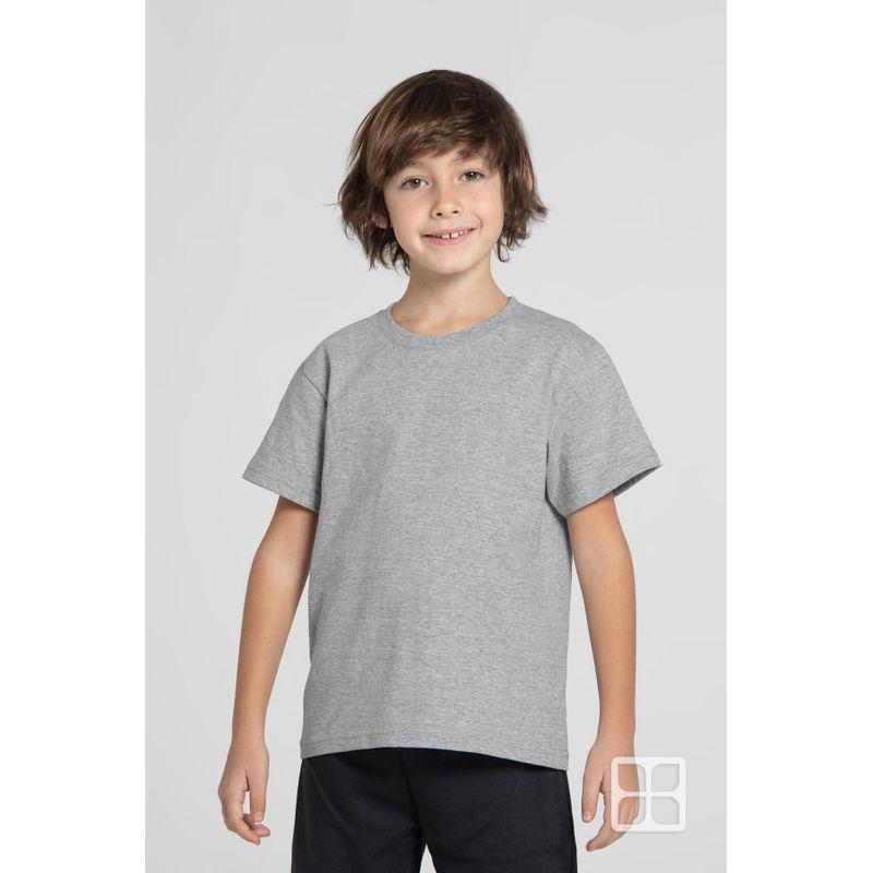 Playera-Cuello-Redondo-Manga-Corta-para-Niños-Color-Jaspe