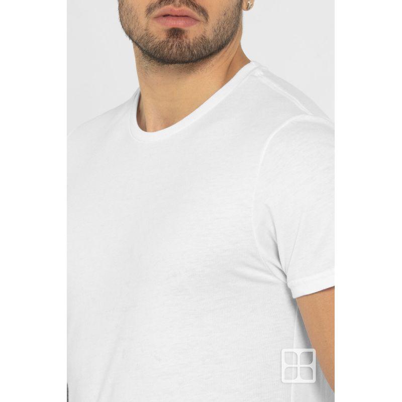 Playera-Cuello-Redondo-Manga-Corta-Premium-para-Hombre-Color-Blanco