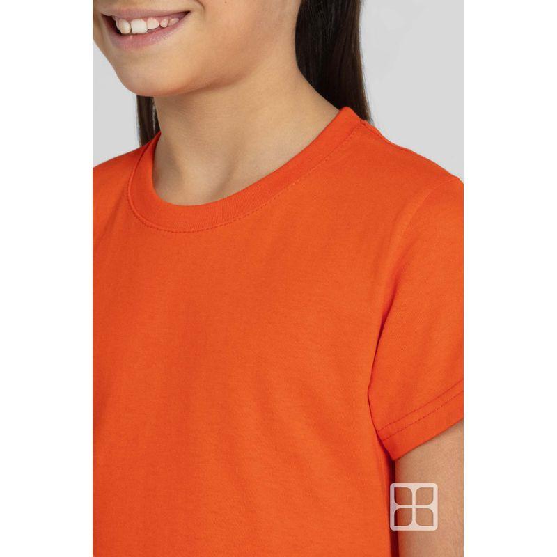 Playera-Cuello-Redondo-Manga-Corta-para-Niños-Color-Naranja