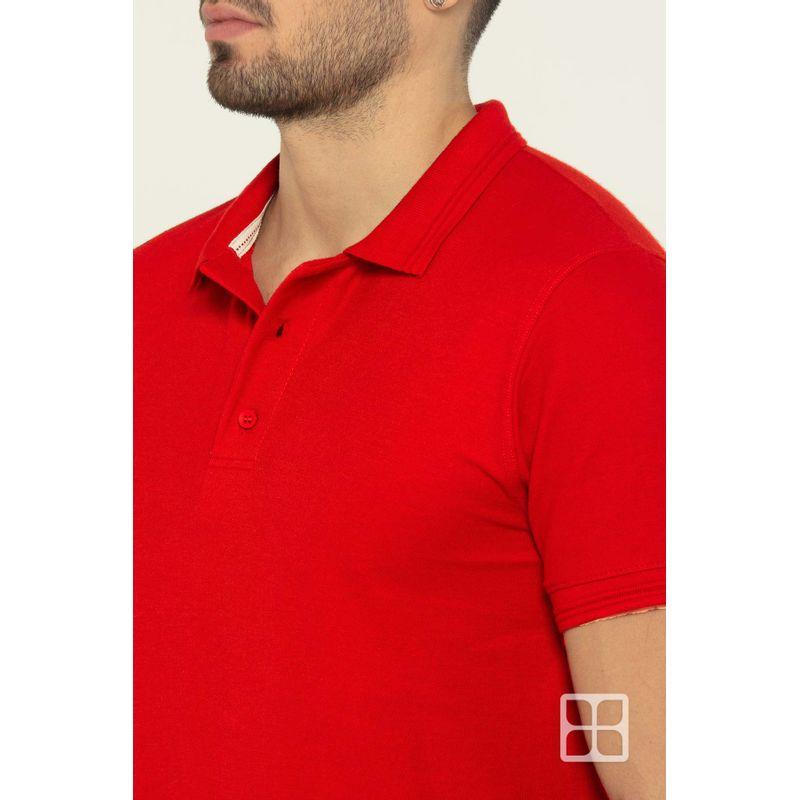Playera-Tipo-Polo-de-Alta-Calidad-para-Hombre-Color-Rojo