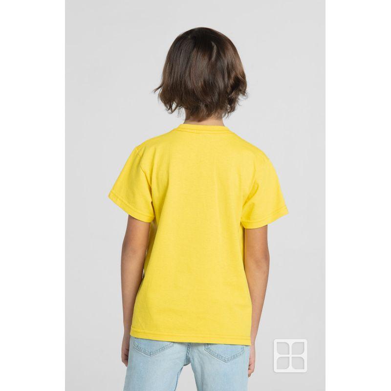 Playera-Cuello-Redondo-Manga-Corta-para-Niños-Color-Canario