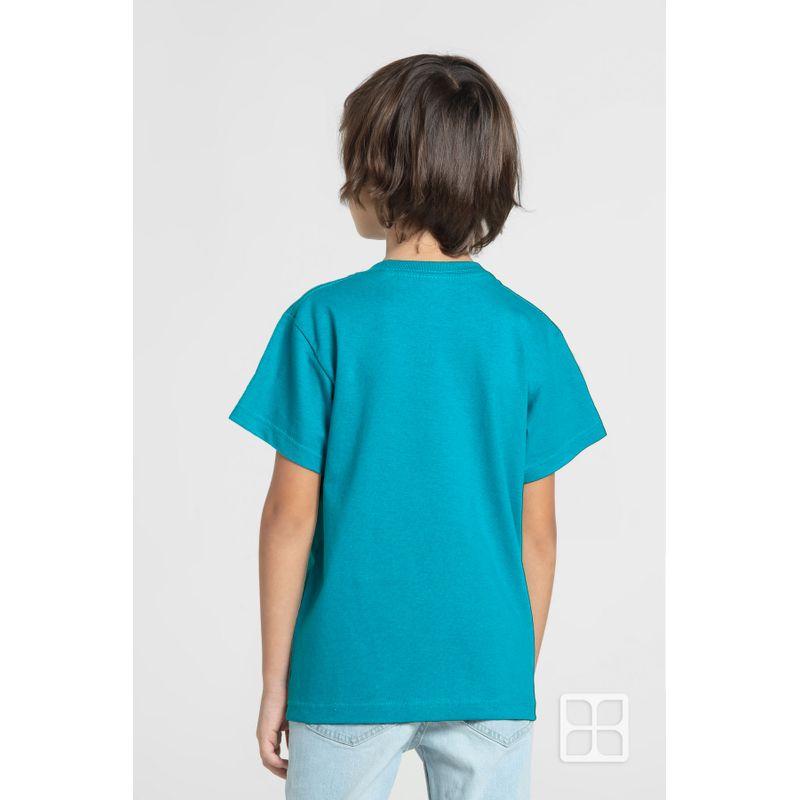 Playera-Cuello-Redondo-Manga-Corta-para-Niños-Color-Verde-Perry