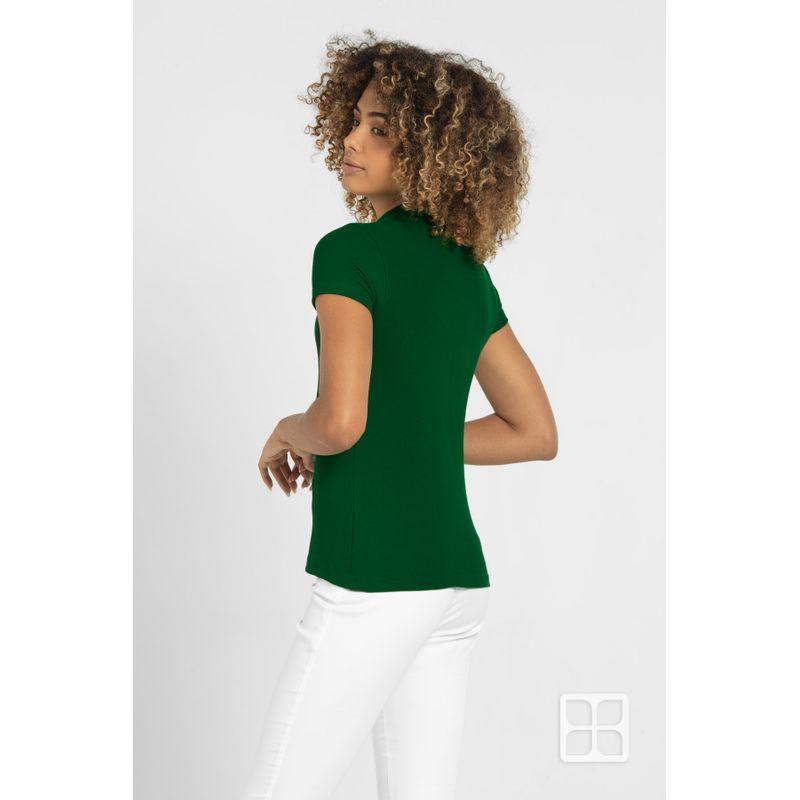 Playera-Tipo-Polo-de-Alta-Calidad-para-Mujer-Color-Verde-Bandera