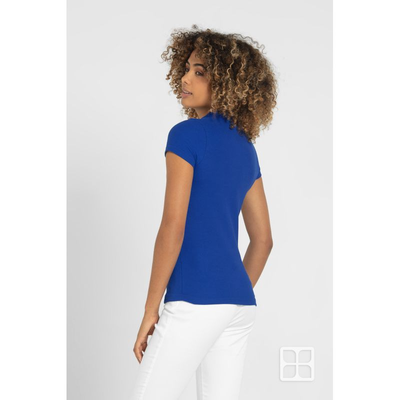 Playera-Tipo-Polo-de-Alta-Calidad-para-Mujer-Color-Azul-Rey