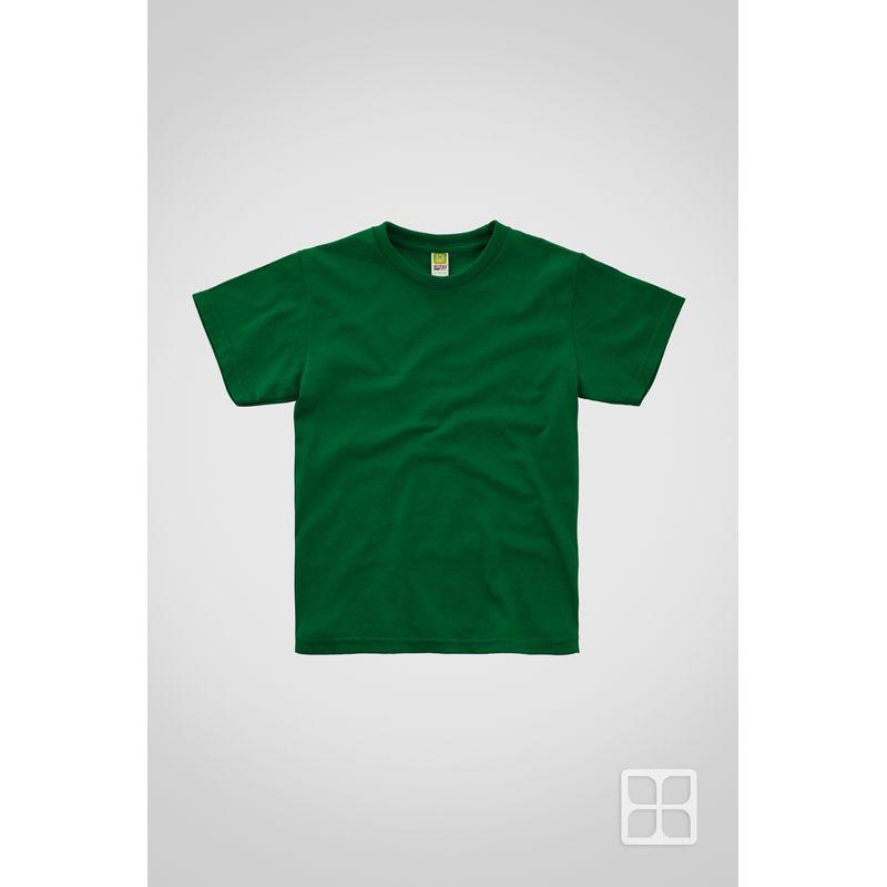 Playera-Cuello-Redondo-Manga-Corta-para-Niños-Color-Verde-Bandera
