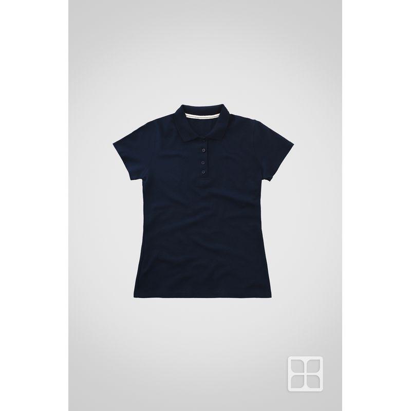 Playera-Tipo-Polo-de-Alta-Calidad-para-Mujer-Color-Azul-Marino