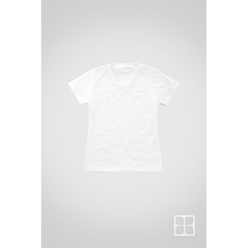 Playera-Cuello-Redondo-Manga-Corta-para-Sublimar-para-Mujer-Color-Blanco