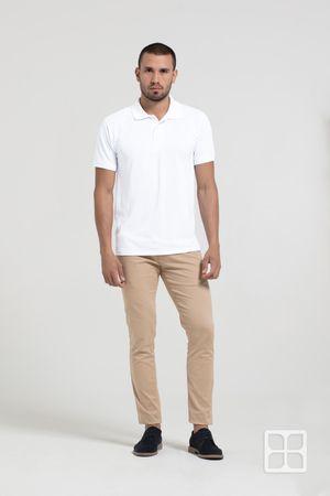 Playera Tipo Polo Premium 100% Poliéster Para Hombre Color Blanco