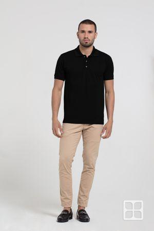 Playera Tipo Polo Premium 100% Poliéster Para Hombre Color Negro