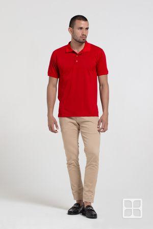 Playera Tipo Polo Premium 100% Poliéster Para Hombre Color Rojo