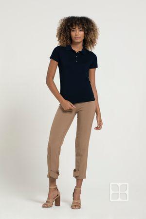 Playera Tipo Polo Premium 100% Poliéster Para Mujer Color Marino