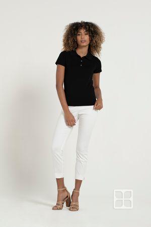 Playera Tipo Polo Premium 100% Poliéster Para Mujer Color Negro