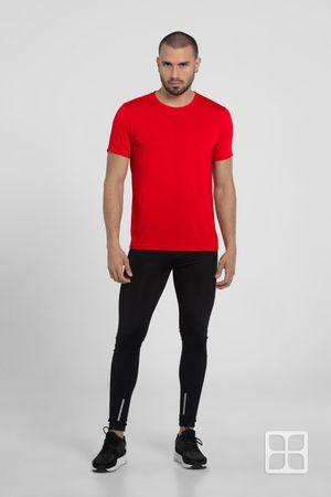 Playera Deportiva 100% políester con tecnología Dry Tech para Hombre Color Rojo