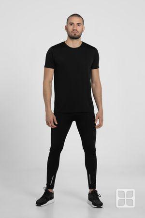 Playera Deportiva 100% políester con tecnología Dry Tech para Hombre Color Negro